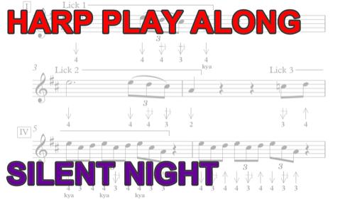 Harmonica Play Along: Silent Night + free harp tab