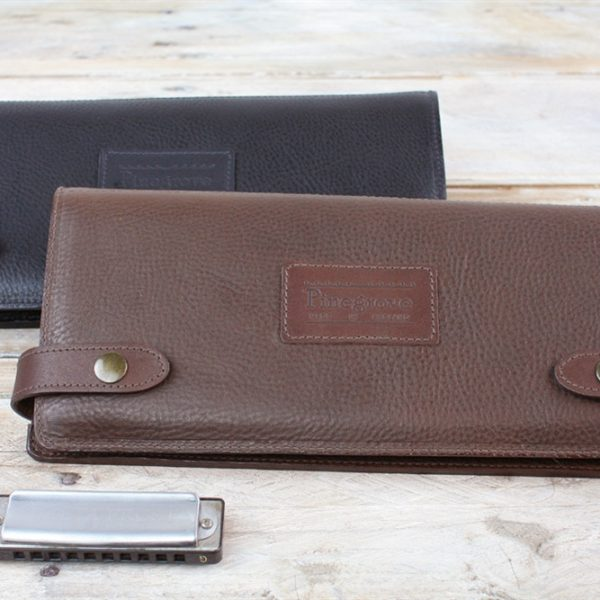Leather 12 pack harmonica case